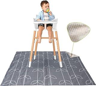 """51"""" Splat Mat Under High Chair, Non Slip Under High Chair Mat, Washable High Chair Splash Mat, Toddler Art Mat, Picnic Ma..."""