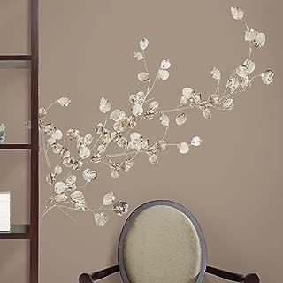 silver leaf wall decor