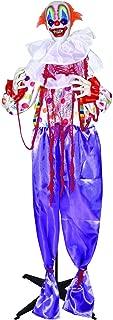 Halloween Life Size Standing Animated Clown Prop, 5 Feet