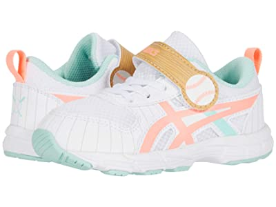 ASICS Kids GEL Contendtm 6 (Toddler) (White/Sun Coral) Girls Shoes