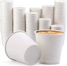 [200 عبوة] أكواب ورقية سعة 340 مل للاستخدام مرة واحدة، أكواب ورقية للقهوة الساخنة اسبريسو وأكواب الحمام القابلة للاستخدام ...