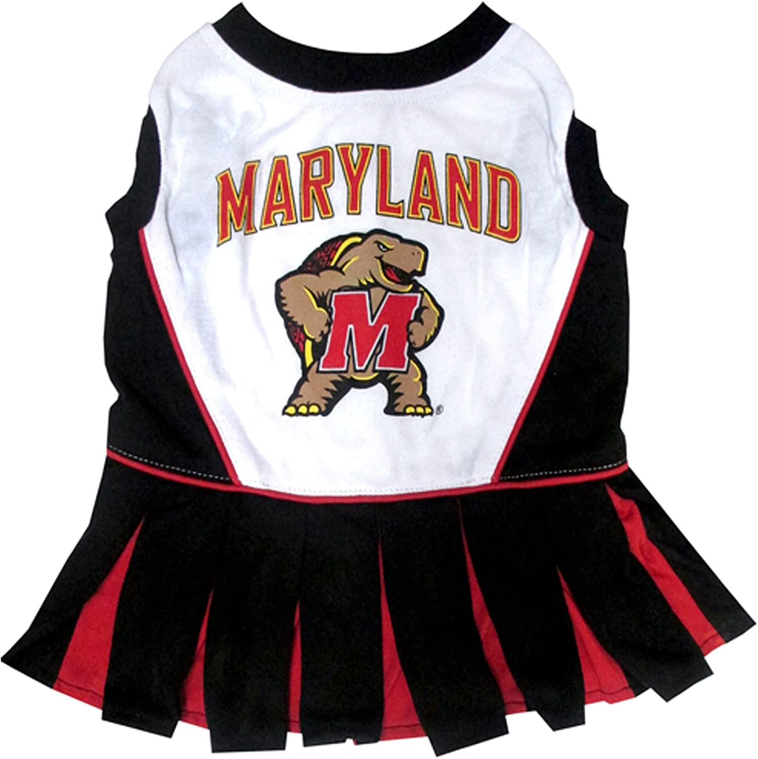 Pets First Collegiate Maryland Terrapins Dog Cheerleader Dress, Medium