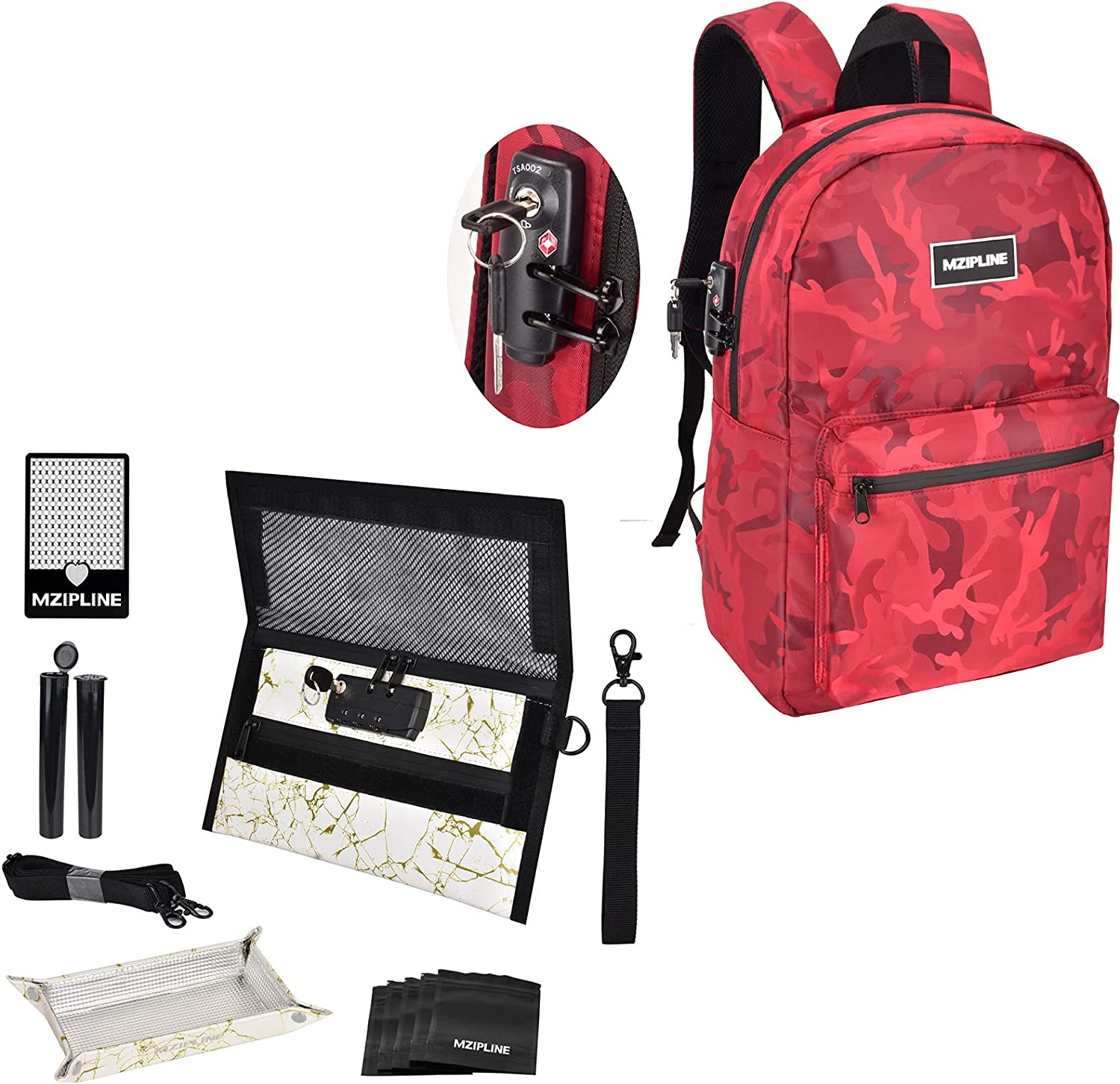 Mzipline Large Smell Proof Backpack Bag Topics on TV 5% OFF Pouch Bundle with