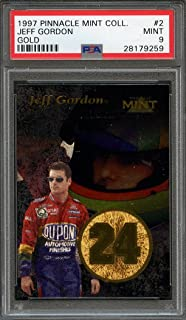 1997 pinnacle mint collection gold #2 JEFF GORDON nascar racing PSA 9 Graded Card