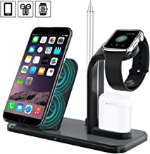 Wireless Charger Stand, Amabana 4 in 1 Wireless Charging Station for iPhone Xs/X Max/XR/X/8/8Plus/iWatch/AirPods, Qi Certified Wireless Charging Dock with USB Port
