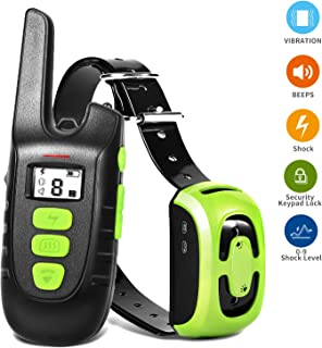 YIDA TECH Dog Training Collar, Shock Collar for Dogs, Rechargeable Dog Shock Collar with Remote Control 1600 Feet Range, IP67 Waterproof Beep, Vibrate, Shock Modes