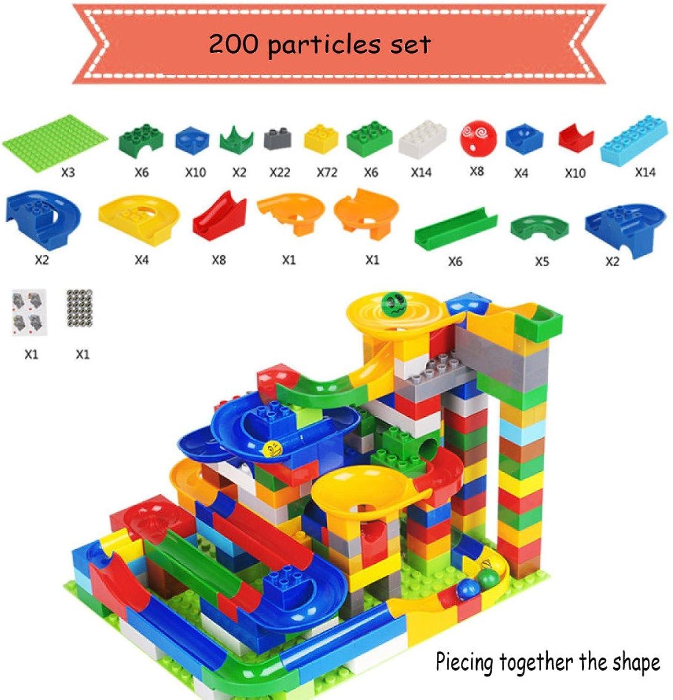 SEJNGF Kinder Erleuchtung Assembly Slide Toy 3-8 Jungen Und Mdchen Puzzle Track Roller Bausteine,200particles