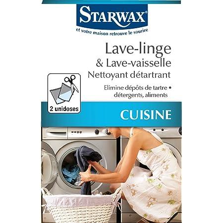 STARWAX Nettoyant Détartrant pour Lave-linge et Lave-vaisselle - 2 Sachets de 75g - Idéal pour Nettoyer et Détartrer les Lave-linges et Lave-vaisselles