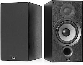 ELAC Debut 2.0 B6.2 Bookshelf Speakers, Black (Pair)