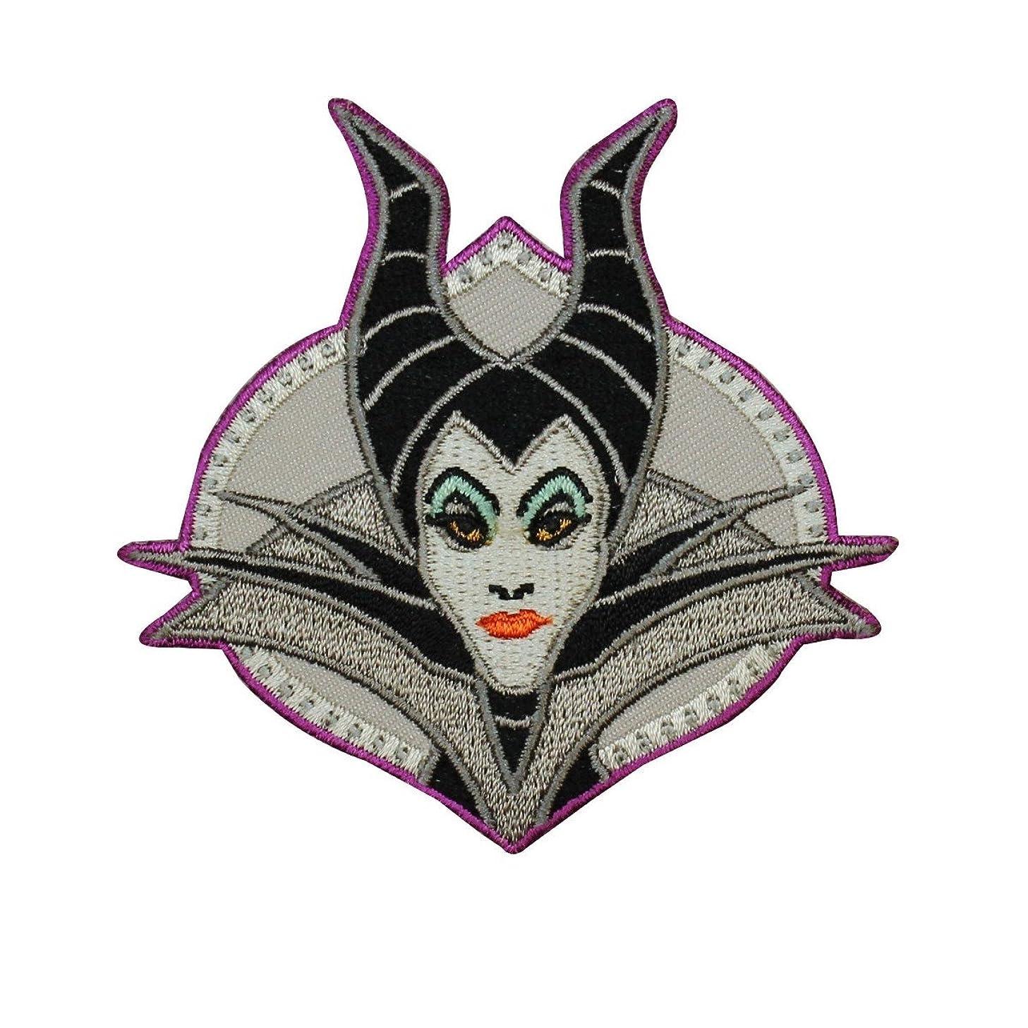 Maleficent Portrait Sleeping Beauty Iron On Patch Disney Movie Apparel Applique
