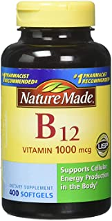 Nature Made B12 1000mcg 400 Softgels 2 Pack (Total 800)…