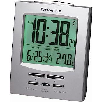 アデッソ 置き時計 シルバー 高7×幅8.9×3.6cm