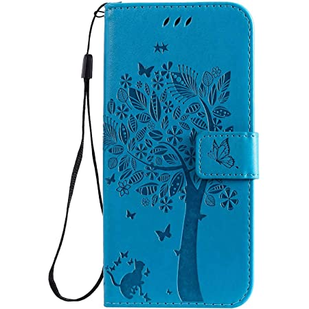 Flip Shockproof Wallet Card Slots Embossed Flower Magnet Clasp Cover with Stand Function for Samsung Galaxy A42 5G Reevermap Samsung Galaxy A42 5G Case PU Leather Wallet