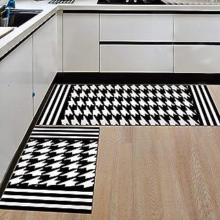 HLXX Geometriskt kök halkfri matta halkfri vattentät badrumsmatta entré dörrmatta matta golvmatta A11 40 x 60 cm + 40 x 12...