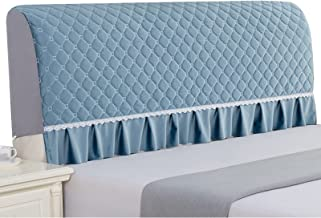 All-Inclusive Super Soft Smooth Quilted Thicken Headboard Cover Solid Color Dust Protection Cover (Color : Blue, Size : 19...