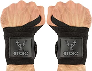 Stoic Wrist Wraps Weightlifting, Powerlifting, Cross Training, Bodybuilding with Thumb Loop. Professional Grade for Gym Workout, Men and Women Weight Lifting and Strength Training