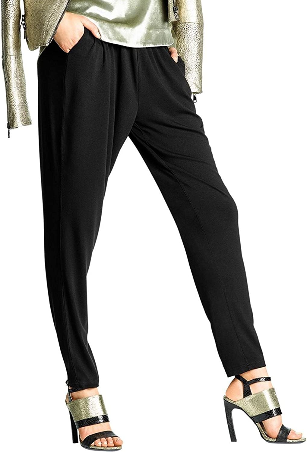 Hue Women's Jersey Relaxed Leggings, Black, XSmall