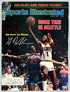 931d9eea9b47 Gus Williams Autographed Sports Illustrated Magazine Seattle Supersonics In  Silver MCS Holo  51031 - Autographed