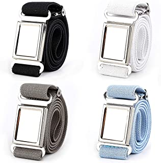 Magnetic Belt for Boys/Girls/Kids, 4 pcs Adjustable Elastic Kids Belt with Magnetic Buckle
