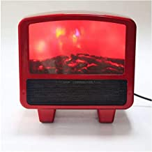 Mini Flame Heater Fan Heater Desktop Flame Effect Heater Space Heater Flame Heater - Quick and Easy Heating All Over in Red