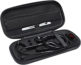 Stethoscope Case for 3M Littmann Classic III Stethoscope Accessories -Extra Room Taylor Percussion Reflex Hammer Reusable LED Penlight (Black Waterproof)