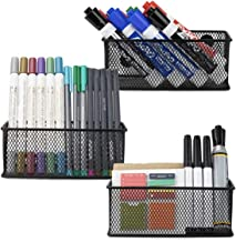 Minima Magnetic Organiser Pencil Holder Set of 3 - Mesh Storage Baskets with Extra Strong Magnets - Perfect Marker and Pen...