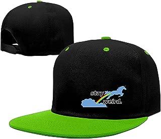 YLSD Stay Weird Unicorn Baseball Adjustable Hip Pop Cap Cool Hat Unisex,Men and Women Red