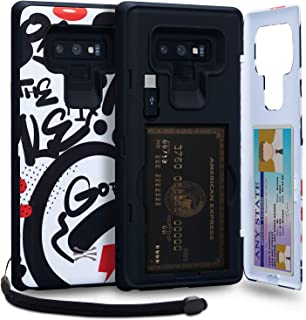TORU CX PRO Note 9 Wallet Case Pattern Colorful with Hidden Credit Card Holder ID Slot Hard Cover, Strap, Mirror & USB Ada...