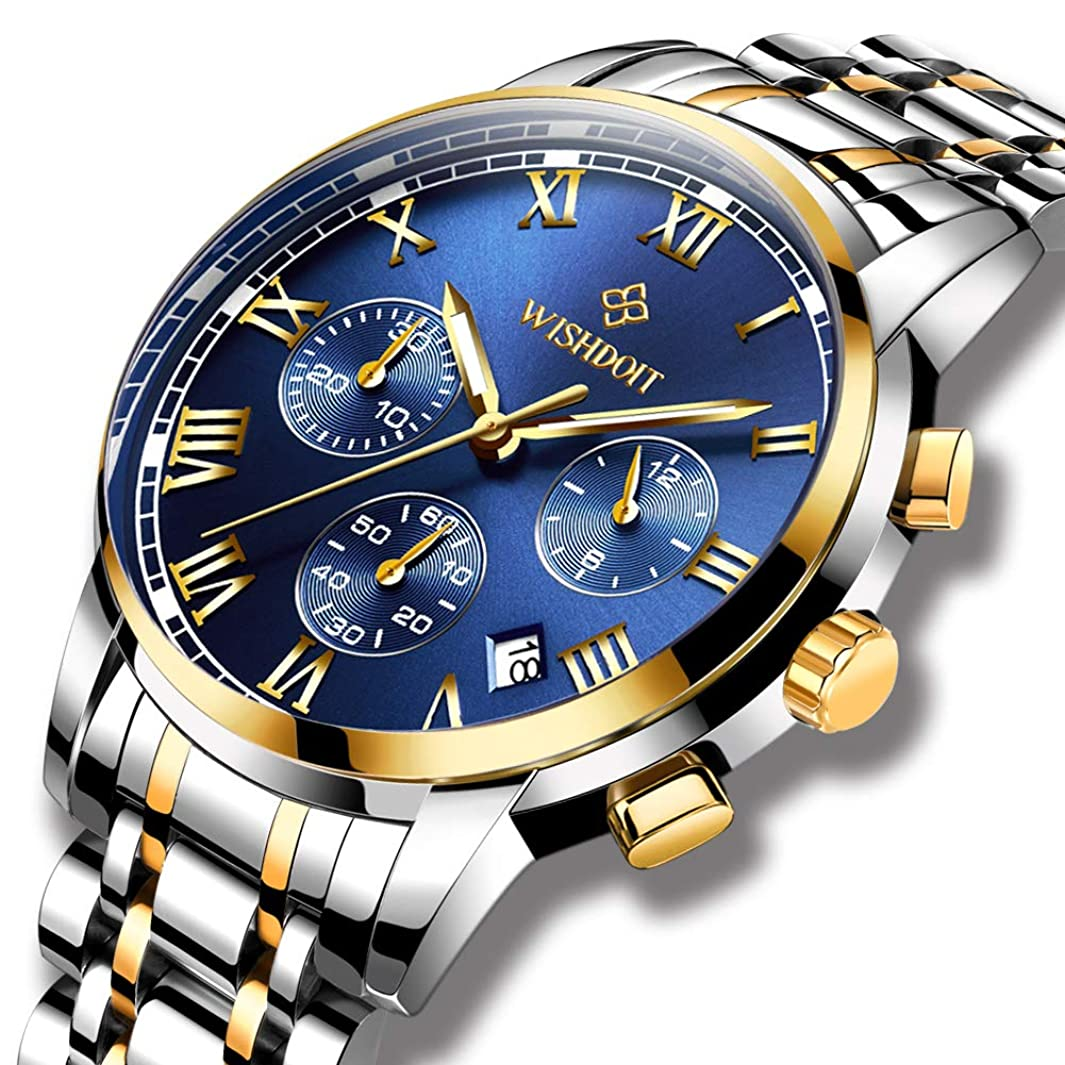 Mens Watches Luxury Fashion Automatic Date Stainless Steel Waterproof Mechanical Watch Gents Casual Business Dress Gents Wrist Watch Blue Silver l683939320