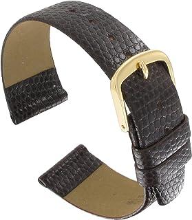 Hadley Roma MS706 20mm Mens Regular Brown Lizard Grain Watch Band
