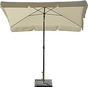 Maffei Art 115R ombrellone rettangolare cm 240x160, tessuto poliestere impermeabile. Made in Italy. Colore ecru
