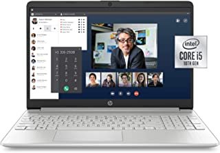 HP 15-Inch FHD Laptop, 10th Gen Intel Core i5-1035G1, 8 GB RAM, 256 GB Solid-State Drive, Windows 10 Home (15-dy1036nr, Na...