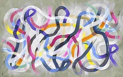Vilber New Look Metropolis Tapis, Vinyle, Multicolore, 75x 120x 0,2cm