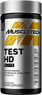 Testosterone Booster for Men   MuscleTech Test HD Elite   Boosts Free Testosterone in 7 Days to Support Musclebuilding, Su...