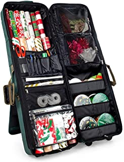 [Gift Bag Wrap and Craft Organization and Storage] - for All Your Tissue Paper Gift Wrap and Crafting Accessories | Holds 14 (40-Inch) Rolls of Wrapping Paper, 6 XL Ribbon Rolls, and More