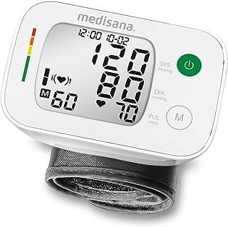 Medisana BW 335 tensiómetro de muñeca, pantalla de arritmia, escala de colores de los semáforos de la OMS, para la medición precisa de la tensión arterial y la medición del pulso, función de memoria