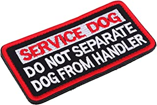 Homyl Service Dog No Touch No Talk, service hond embleem geborduurde patch met klittenbandsluiting - 3#