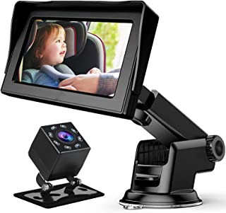 Baby Car Mirror, Baby Car Camera for Car Mirror Baby Rear Facing Seat with 4.3'' HD Display, Night Vision, Upgrade 360 Deg...