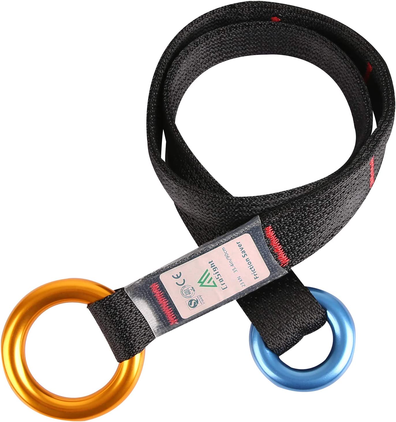 Arborist Friction Saver Tree Climbing Cambium Saver Retrievable Anchor Loop Belt Sling CE Certified 23KN 47.2 inch//35.4 inch
