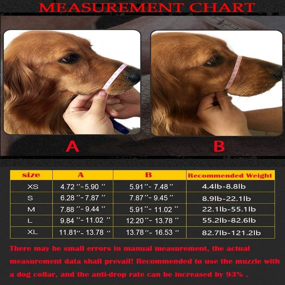 HITNEXT Museruola per Cani in Pelle Delicata XS museruola Regolabile per Cani di Taglia Piccola e Media museruole Nere per Cani Anti-abbaiare//mordere//Masticare