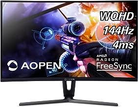 AOPEN 32HC1QUR Pbidpx 31.5-inch 1800R Curved WQHD (2560 x 1440) Gaming Monitor with AMD Radeon FreeSync Technology (Display, HDMI & DVI Ports)