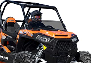 SuperATV Heavy Duty Light Tint Scratch Resistant Half Windshield for Polaris RZR XP 1000/4 1000 (2014-2018) - Installs in 5 Minutes!