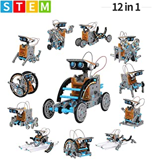 Guffo 12-in-1 Education Solar Robot Toys STEM Toys 190 Pieces DIY Building Science Experiment Kit with Working Solar Powered for Fun Activity and Birthday Gift Kids Age 8-12