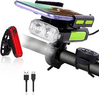 YUEWXTER Bike Lights Front and Back, 5 in 1 LED Bike Light Set, Waterproof Super Bright 3000...