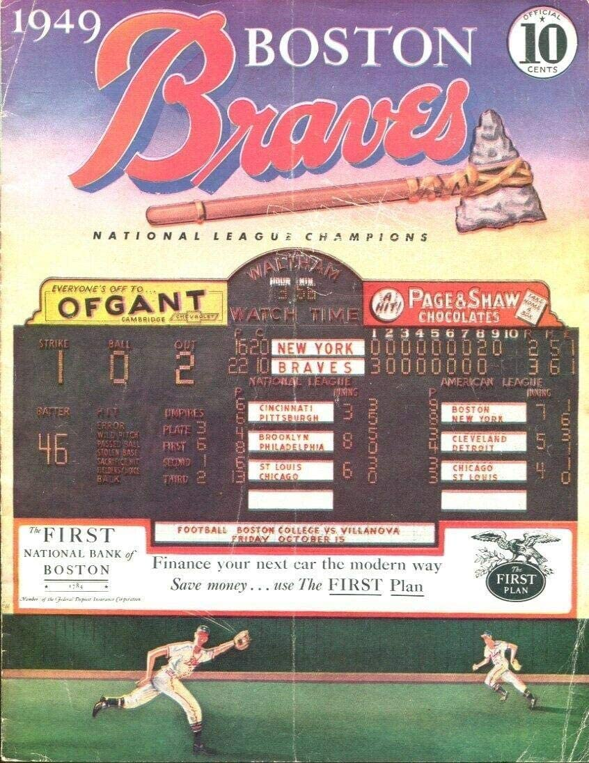 Ranking TOP13 Columbus Mall 1949 Boston Braves v St. Louis Unscored Stan Program Cardinals M