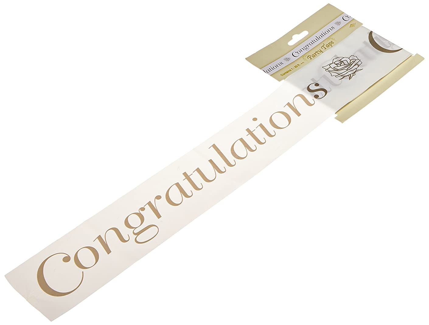 Congratulations Party Tape (gold) Party Accessory  (1 count) (1/Pkg)
