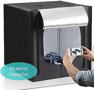Amzdeal Caja de Fotografía Caja de Luz Portátil 50 x 50 x 50 cm para Hacer