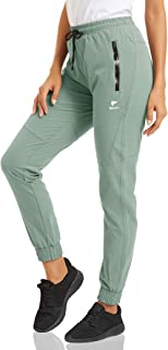 MAGCOMSEN Women's Joggers Pants with 2 Zipper Pockets Quick Dry Lightweight Sweatpants Yoga Running Workout Pants