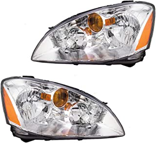 Halogen Headlights Headlamps Driver and Passenger Replacements for 02-04 Nissan Altima 260603Z626 260103Z626
