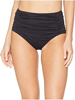 Pearl Shirred High-Waisted Swim Pant